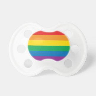 Diseño colorido del arco iris del orgullo el | chupete