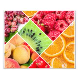 Diseño colorido del modelo del collage de la fruta foto