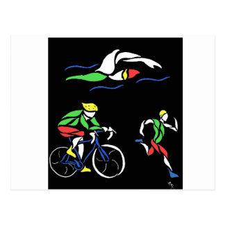 Diseño colorido del Triathlon Postal