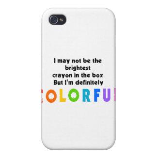 Diseño colorido divertido del creyón iPhone 4 protector