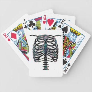 Diseño colorido floral de las costillas baraja cartas de poker