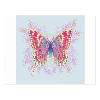 Diseño colorido hermoso de la mariposa postal