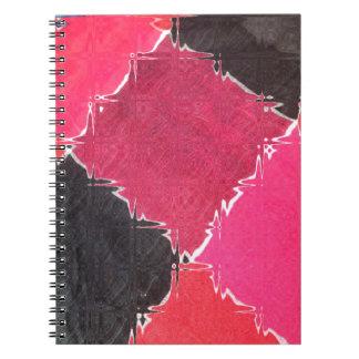 diseño colorido libreta espiral
