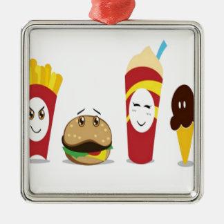Diseño combinado de la comida ornamento para arbol de navidad