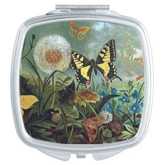 Diseño compacto del vintage del espejo espejo para el bolso