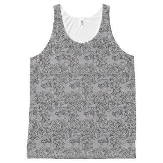 Diseño complejo de las camisetas sin mangas del