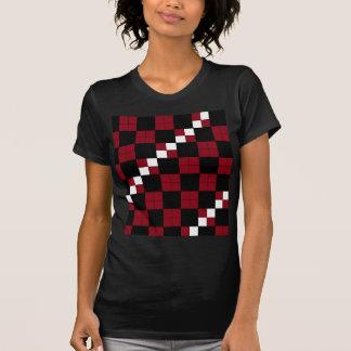 Diseño con clase del tablero de damas del rojo y d camiseta