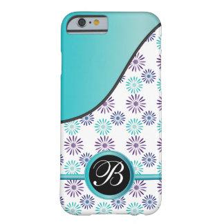 Diseño con monograma floral de la diversión funda para iPhone 6 barely there