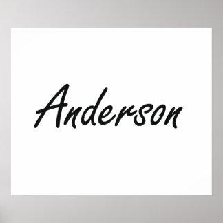Diseño conocido artístico de Anderson Póster