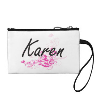 Diseño conocido artístico de Karen con las flores