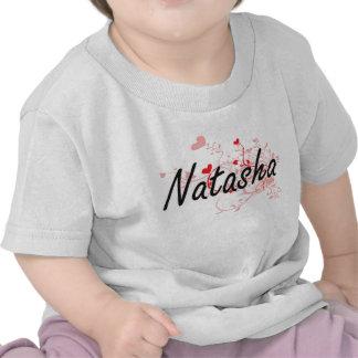 Diseño conocido artístico de Natasha con los Camiseta