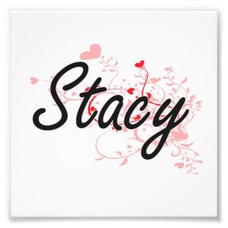 Diseño conocido artístico de Stacy con los Cojinete