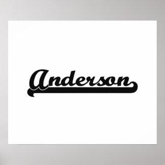 Diseño conocido retro clásico de Anderson Póster