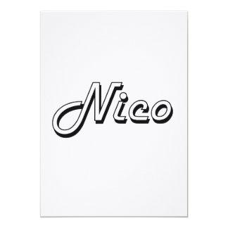 Diseño conocido retro clásico de Nico Invitación 12,7 X 17,8 Cm