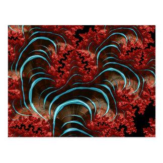 Diseño coralino de la postal de la erupción