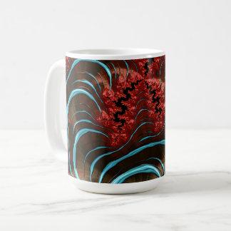 Diseño coralino de la taza de la erupción