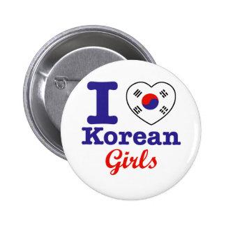 Diseño coreano de los chicas chapa redonda de 5 cm