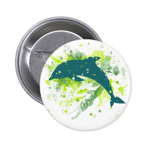 Diseño creativo del delfín pin