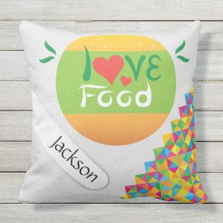 Diseño creativo loco fresco de la comida del amor cojín de exterior