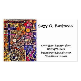 Diseño cruzado al sudoeste del mosaico colorido de tarjetas de negocios