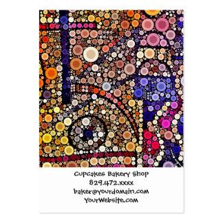 Diseño cruzado al sudoeste del mosaico colorido de tarjetas de visita grandes