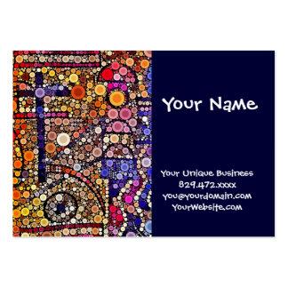 Diseño cruzado al sudoeste del mosaico colorido de plantillas de tarjeta de negocio