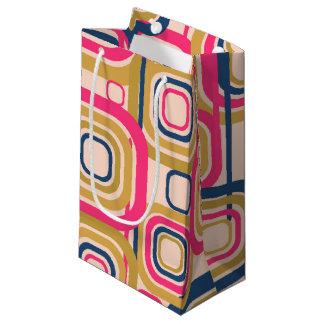 Diseño cuadrado enrrollado retro bolsa de regalo pequeña