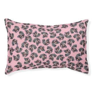 Diseño cubierto Dachshund rosado Cama Para Mascotas