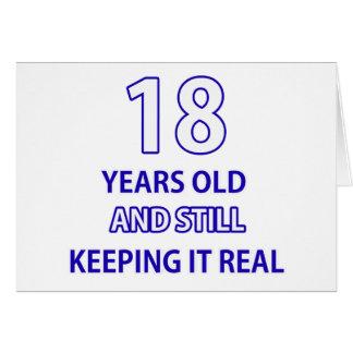 diseño de 18 cumpleaños tarjeta de felicitación