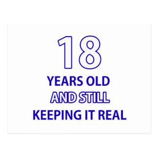 diseño de 18 cumpleaños postal