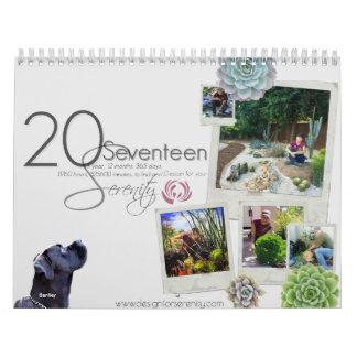 Diseño de 2017 calendarios para la serenidad