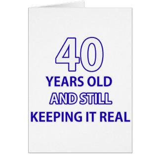 diseño de 40 cumpleaños tarjeta de felicitación