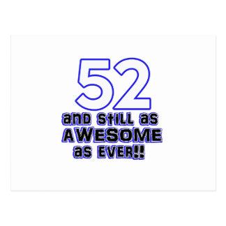 diseño de 52 cumpleaños postal