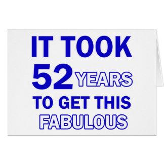 Diseño de 52 cumpleaños tarjeta de felicitación