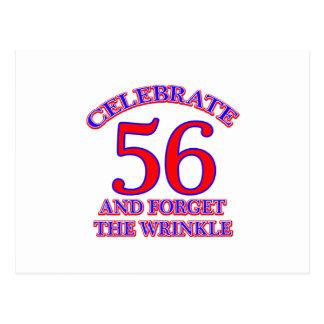Diseño de 56 cumpleaños postal