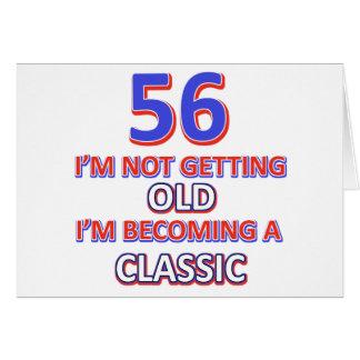 diseño de 56 cumpleaños tarjeta de felicitación