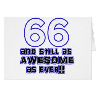diseño de 66 cumpleaños tarjeta de felicitación