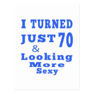 diseño de 70 cumpleaños postal
