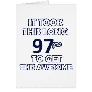 diseño de 97 cumpleaños tarjeta de felicitación