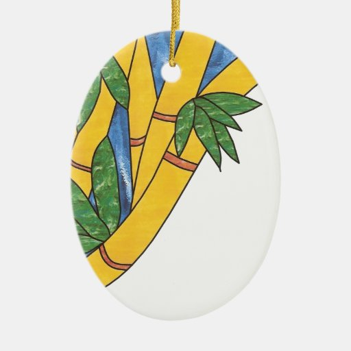 Diseño de bambú ornamentos de reyes magos
