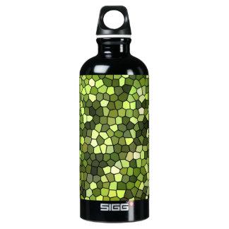 Diseño de consumición del mosaico del verde de botella de agua