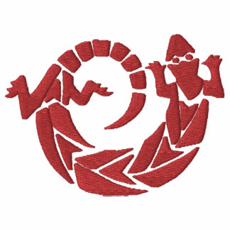 Diseño de giro 3 del lagarto del nativo americano polo bordado