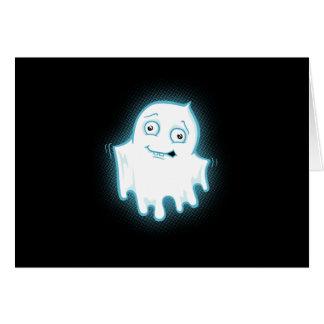 Diseño de Halloween del fantasma de Lil Tarjeta De Felicitación