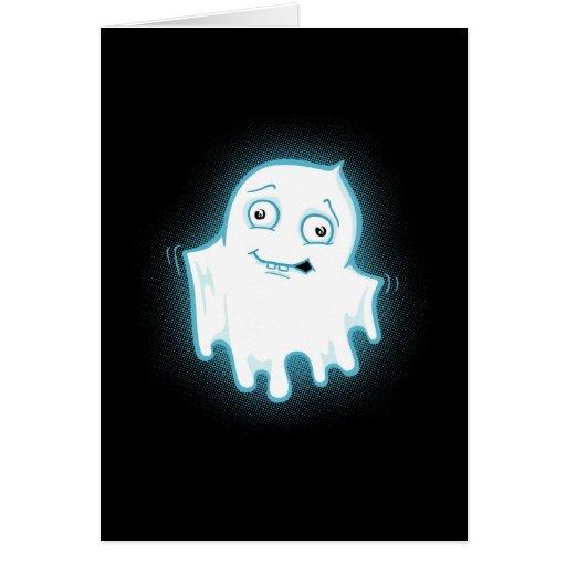 Diseño de Halloween del fantasma de Lil Felicitación