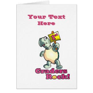 """Diseño de la """"1ra roca de los graduadores"""" de la tarjeta de felicitación"""