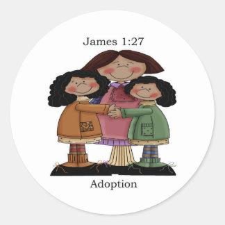 Diseño de la adopción del 1:27 de James Etiqueta Redonda
