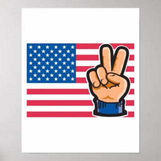 Diseño de la bandera americana de la paz impresiones