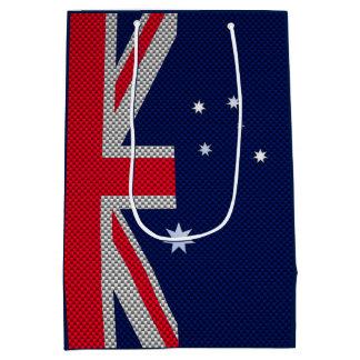 Diseño de la bandera de Australia en estilos del Bolsa De Regalo Mediana