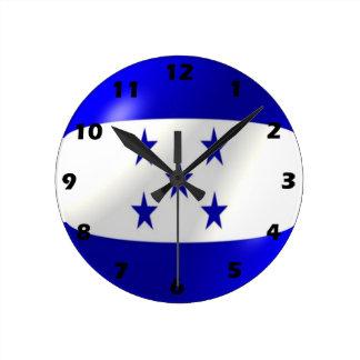 Diseño de la bandera de Honduras Reloj Redondo Mediano