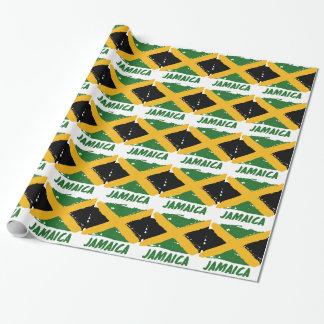 Diseño de la bandera de Jamaica Papel De Regalo
